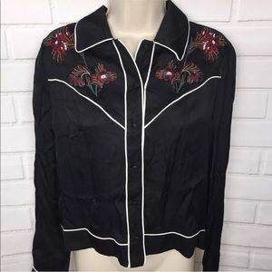 Zara Embroidered Top NEW